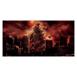 Godzilla. Размер: 120 х 60 см